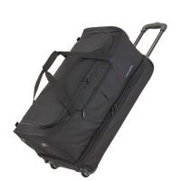 Travelite Basics Wheeled Duffle 55cm Expandable Black/Blue