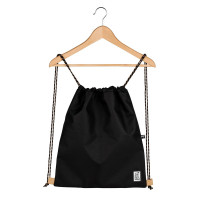 The Pack Society The Gymsack Rugzak Solid Black