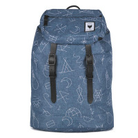 The Pack Society The Premium Rugzak Collaboration Blue With White Embroidery