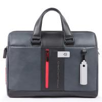Piquadro Urban Laptop Briefcase 15.6'' Black/Grey