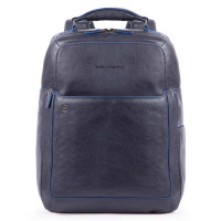 """Piquadro Blue Square Fast Check Computer 15.6"""" Backpack iPad 10"""" Blue"""