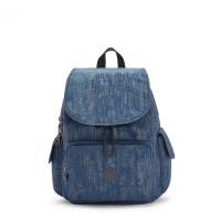 Kipling City Pack Backpack Blue Eclipse Print