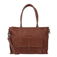 "Cowboysbag Laptop Bag Edgemore 15.6"" Schoudertas Cognac 2056"