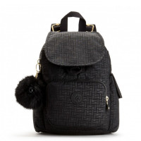 Kipling City Pack Mini Backpack Black Pylon Emb