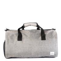 Spiral Duffel Bags Crosshatch Grey