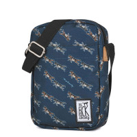 The Pack Society The Small Shoulderbag Dark Blue Wolf Allover