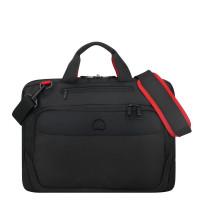 """Delsey Parvis Plus Laptop Bag 1-CPT 15.6"""" Black"""