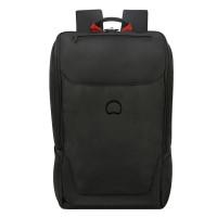 "Delsey Parvis Plus Backpack 1-CPT 15.6"" Black"