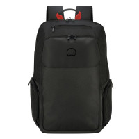 "Delsey Parvis Plus Backpack 2-CPT 17.3"" Black"