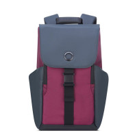 "Delsey Securflap 1-Compartment Laptop Backpack 15"" Burgundy"