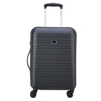 Delsey Segur Slim Cabin Trolley Case 4 Wheel 55 Black