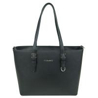 Flora & Co Shoulder Bag Saffiano Black