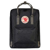 FjallRaven Kanken Rugzak Black/Striped