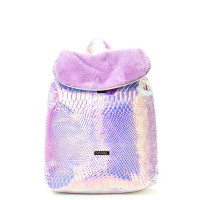 Spiral Liberty Backpack Holo Faux Fur Lilac