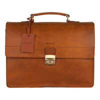 Burkely Vintage Dean Briefcase 3-Vaks Cognac