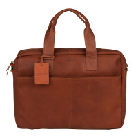 "Burkely Vintage River Worker 15.6"" Laptop Bag Cognac"