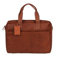"""Burkely Vintage River Worker 15.6"""" Laptop Bag Cognac"""