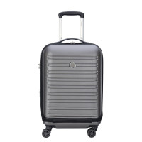 Delsey Segur Cabin Trolley Business Case 4 Wheel 55 Expandable Grey