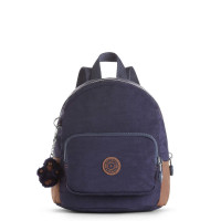Kipling Munchin Rugzak Blue Tan Block