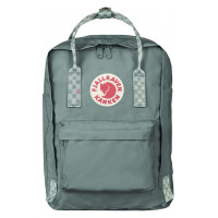 "FjallRaven Kanken Laptop 13"" Rugzak Frost Green/ Chess Patern"