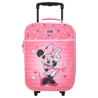 Kidzroom Soft Trolley 2 Wheel Minnie Mouse Looking Fabulous Pink