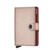 Secrid Mini Wallet Portemonnee Metallic Rose/ Rose