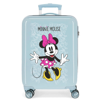 Disney Trolley 55 Cm 4 Wheels Minnie Mouse Enjoy The Day Twister Light Grey