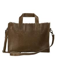 Myomy My Paper Bag Mini Handbag Cross Body Anaconda Taupe