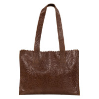 Myomy My Paper Bag Handbag Zip Bubble Brandy
