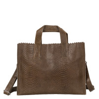 Myomy My Paper Bag Handbag Cross-Body Anaconda Taupe