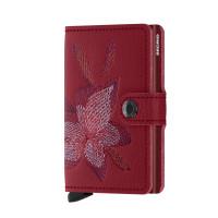 Secrid Mini Wallet Portemonnee Stitch Magnolia Rosso