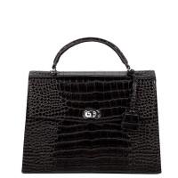 """Socha Audrey Businessbag 13.3"""" Croco Black"""
