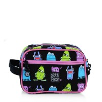 Pick & Pack Fun Toilettas Monster Pattern Black