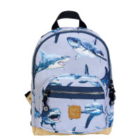 Pick & Pack Cute Rugzak M Shark Light Blue