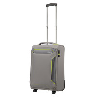 American Tourister Holiday Heat Upright 55 Lenght 35 Metal Grey