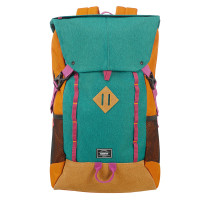 "American Tourister Urban Groove UG Lifestyle Backpack 4 17.3"" Green/ Orange"