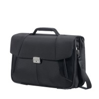 "Samsonite XBR Briefcase 3 Gussets 15.6"" Black"