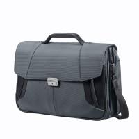"Samsonite XBR Briefcase 3 Gussets 15.6"" Grey/Black"