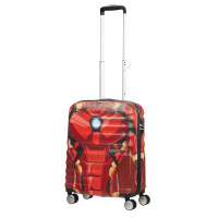 American Tourister Wavebreaker Marvel Spinner 55 Iron Man Close-Up