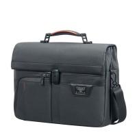 """Samsonite Zenith Briefcase 2 Gussets 15.6"""" Black"""
