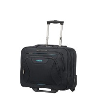 "American Tourister AT Work Rolling Tote 15.6"" Black"