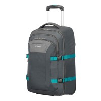 "American Tourister Road Quest Laptop Backpack Wheels 15.6"" Grey/ Turquoise"