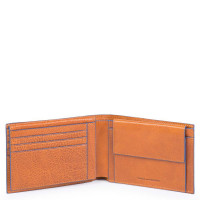 Piquadro Blue Square Men's Wallet With Document Holder Tobacco