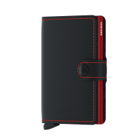 Secrid Mini Wallet Portemonnee Matte Black/ Red