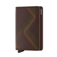 Secrid Slim Wallet Portemonnee Stitch Linea Espresso