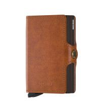 Secrid Twin Wallet Portemonnee Original Cognac Brown