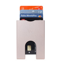 Walter Wallet Aluminium Slim 4 Cards Rose Gold