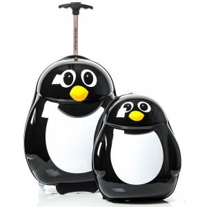 The Cuties and Pals Koffer- en Rugtas-Set Peko de Pinguïn